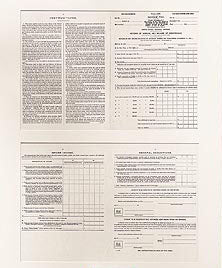 Historical Documents - First 1040 Tax Form- 1913 Item #1398U