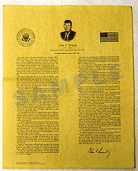 Historical Document - President Kennedy Speech Item #1480U