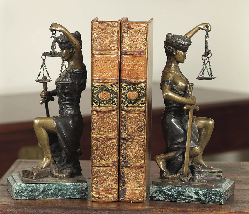 Kneeling Lady of Justice Bookends- Item #1746