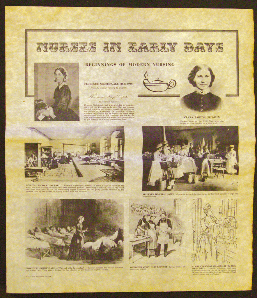 Historical Documents - Nursing in the 1800's.   Item #1892U