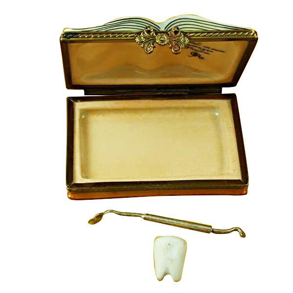 DENTISTRY BOOK LIMOGES PORCELAIN BOX - Item #1993