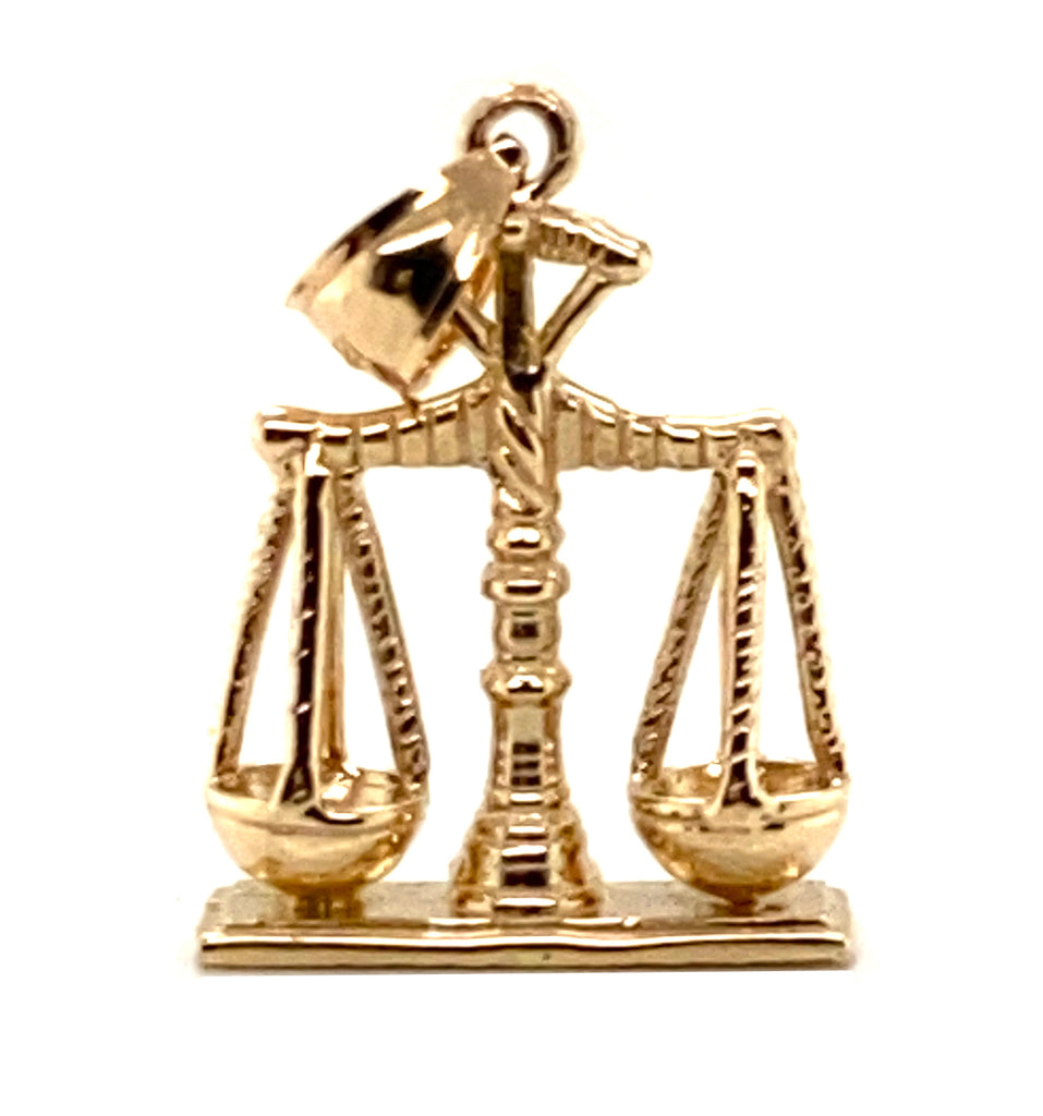14k Gold Scales of Justice Pendent Item #20001