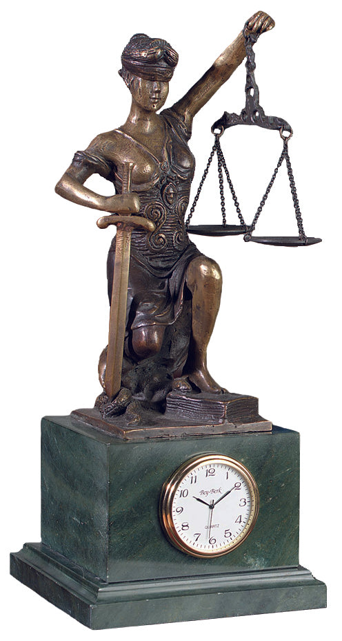 Kneeling  Lady of Justice  and Time- Item #2020
