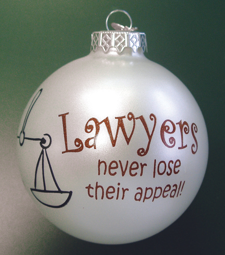 Lawyers Ornament- Item#2270