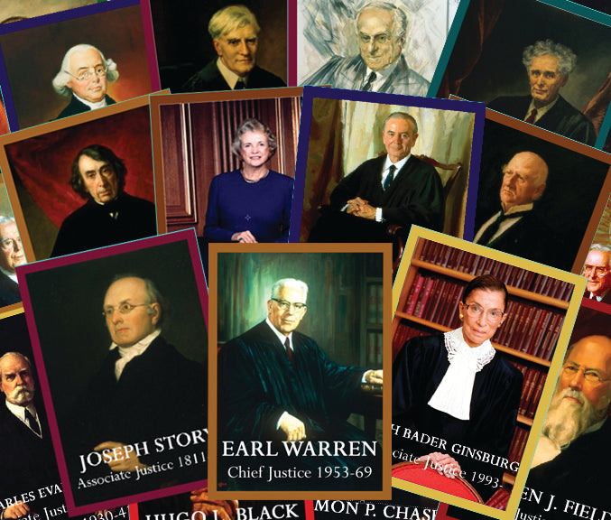 United States Supreme Court Justices Trading Cards. Item# 2621