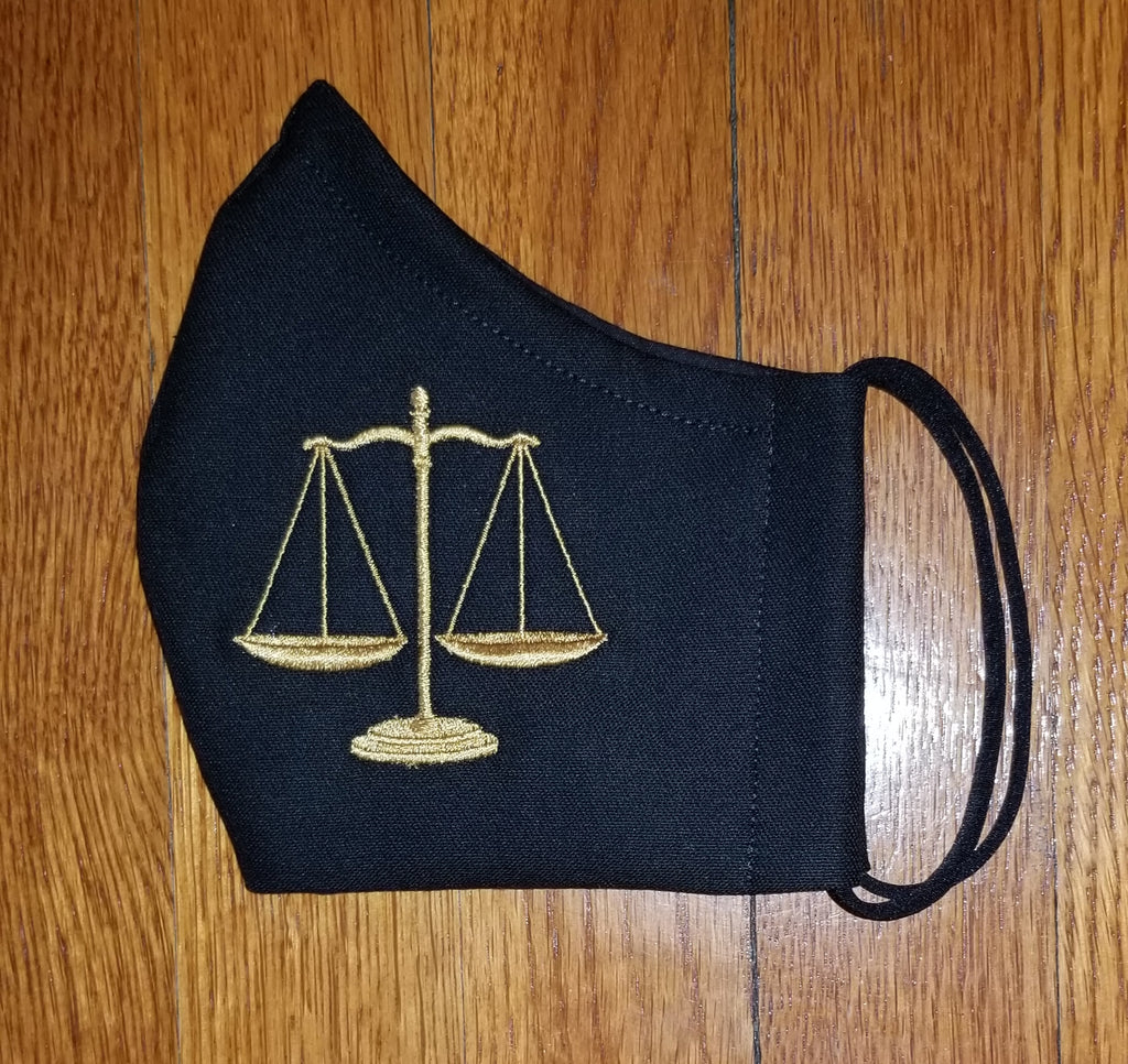 Face Coverings with Large Scales of Justice for the Legal Professional! Item# 30001