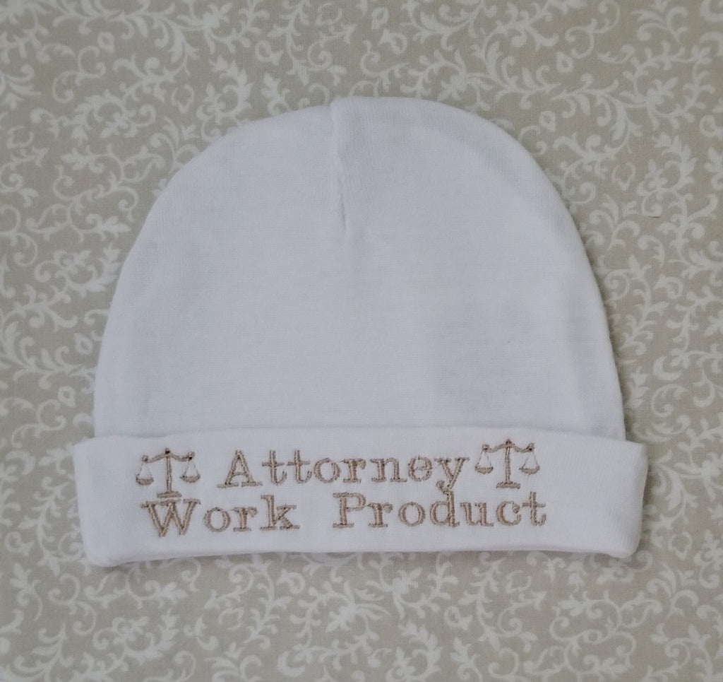 "Baby Beanie ""Attorney Work Product"", Item#  30005"