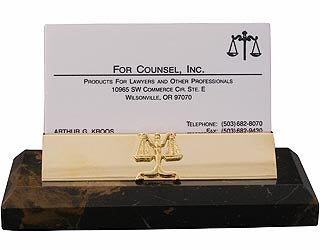Lawyer Brown Marble Business Card Holder - Item #3625