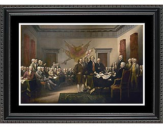 Historical Patriotic Art- The signing of the Declaration of Independence- Item #4150F