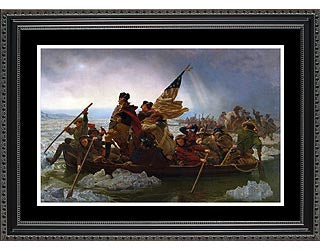 Historical Patriotic Art- Washington Crossing the Delaware- Item #4151F