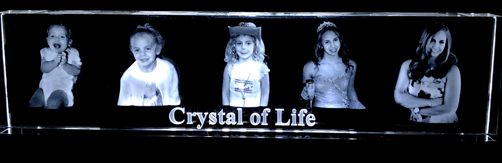 10 INCH 3D CRYSTAL OF LIFE 5 IMAGES LASERED INSIDE CRYSTAL- Item#H1002