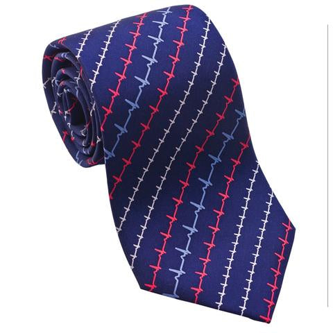 EKG Medical Silk Tie - Item #H0001