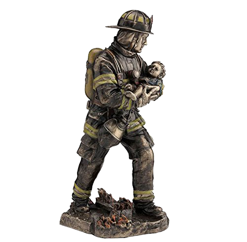 FIREFIGHTER SAVING BABY, ITEM #H0084