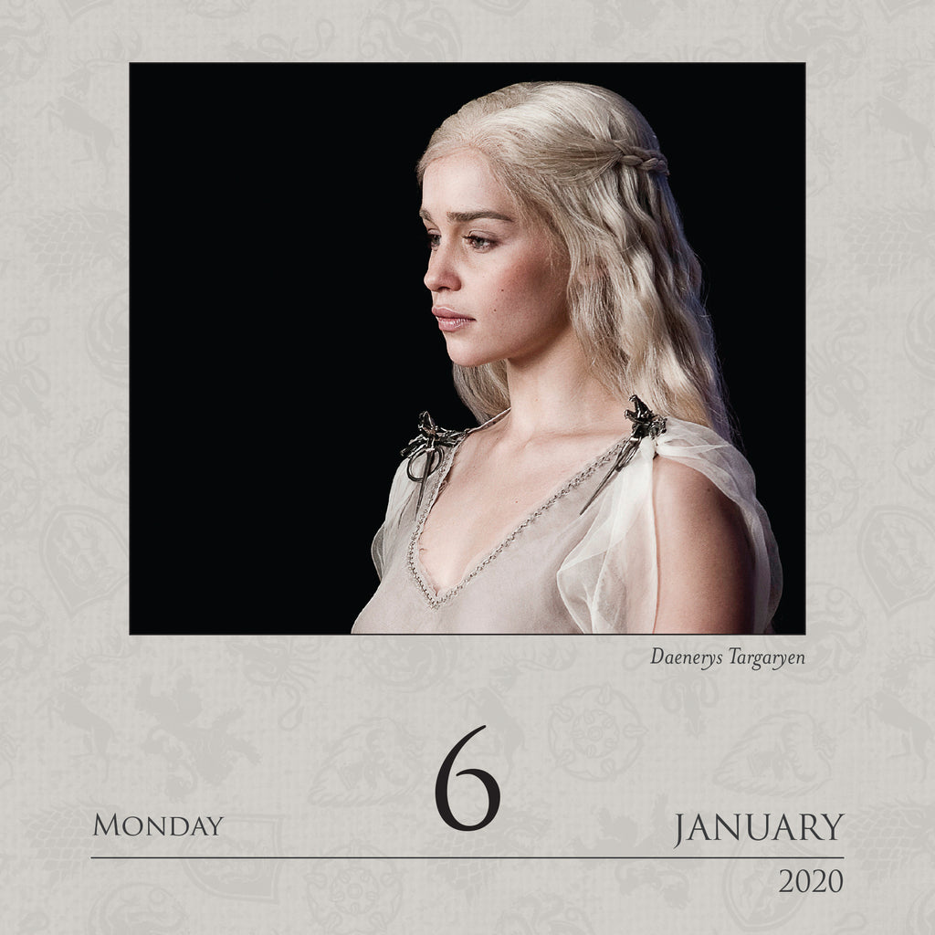 Calendar- Game Of Thrones! - Item #H0017
