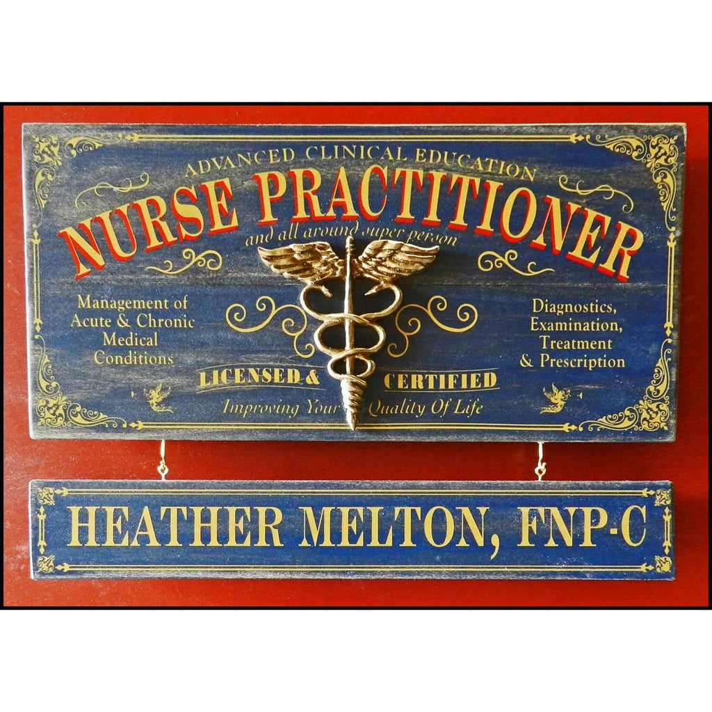 Nurse Practitioner Wooden Plank Sign - Item #H0035