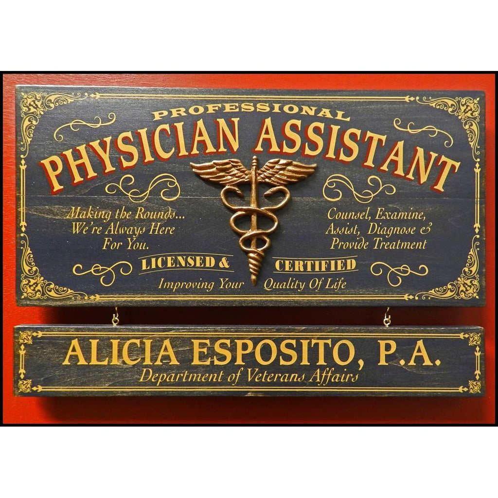 Physician Assistant Wooden Plank Sign - Item #H0037