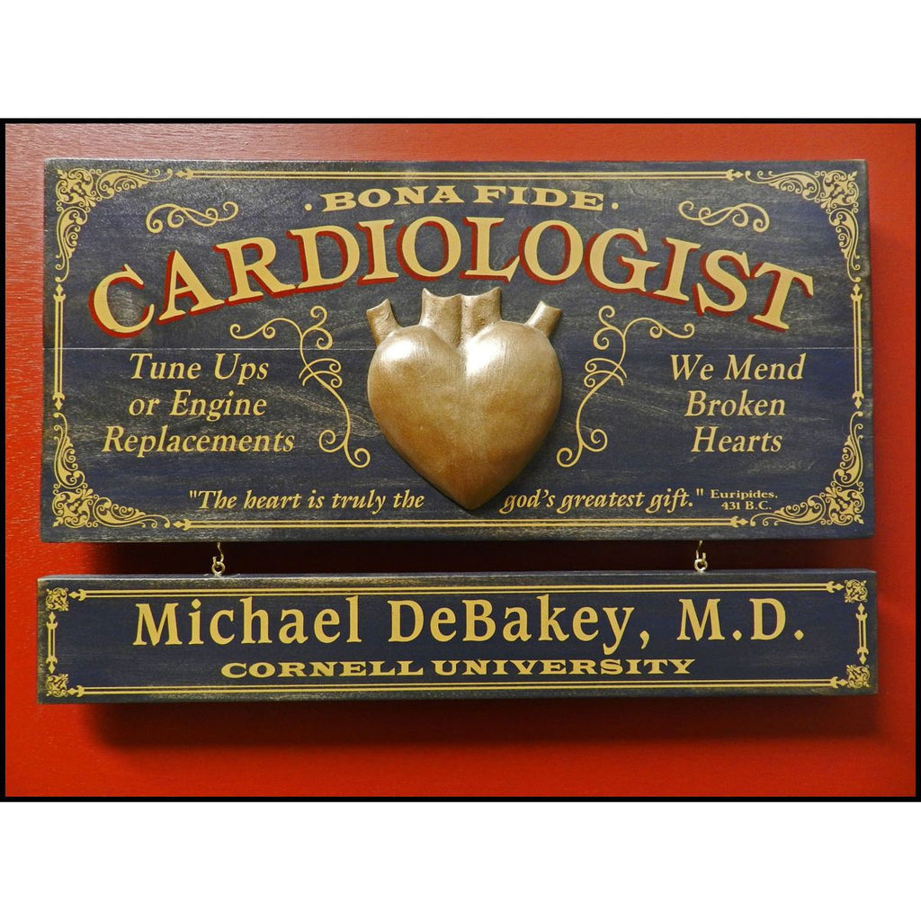 Cardiologist Wooden Plank Sign - Item #H0039