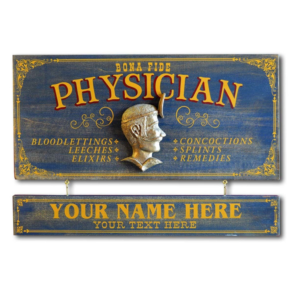 Physician Wooden Plank Sign - Item #H0042
