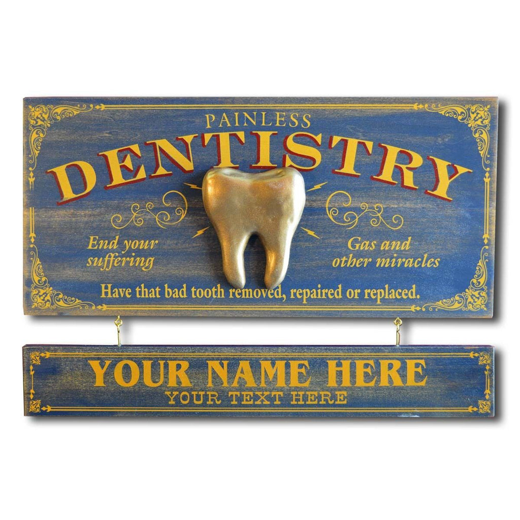 Dentistry Wooden Plank Sign - Item #H0044