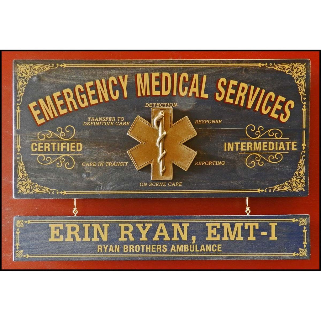 Emergency Medical Services Wooden Plank Sign - Item #H0045