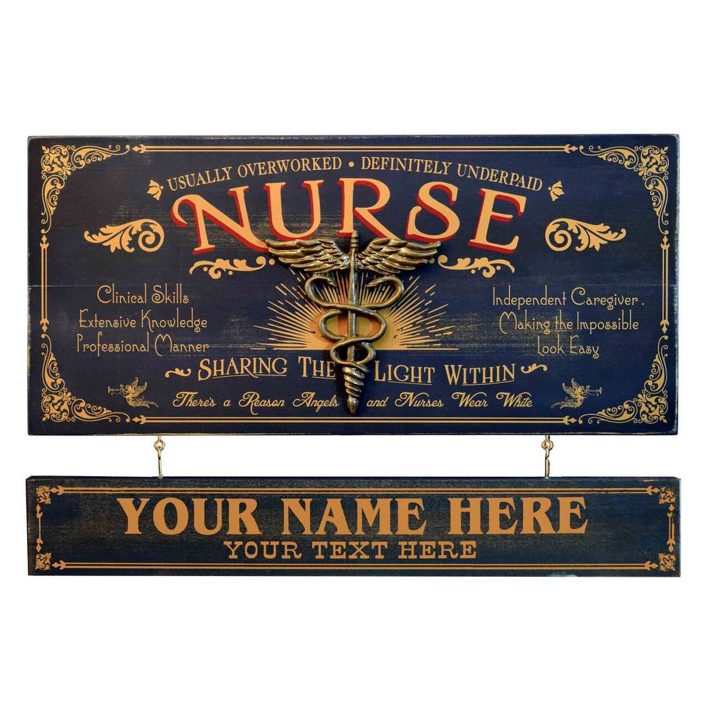 Nurse Wooden Plank Sign - Item #H0046