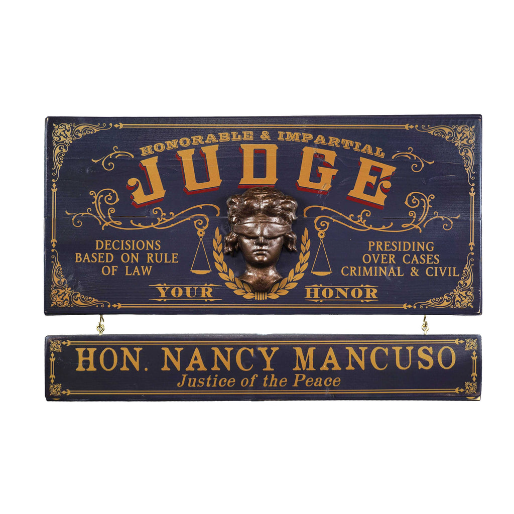 Judge Wooden Plank Sign - Item #H0047