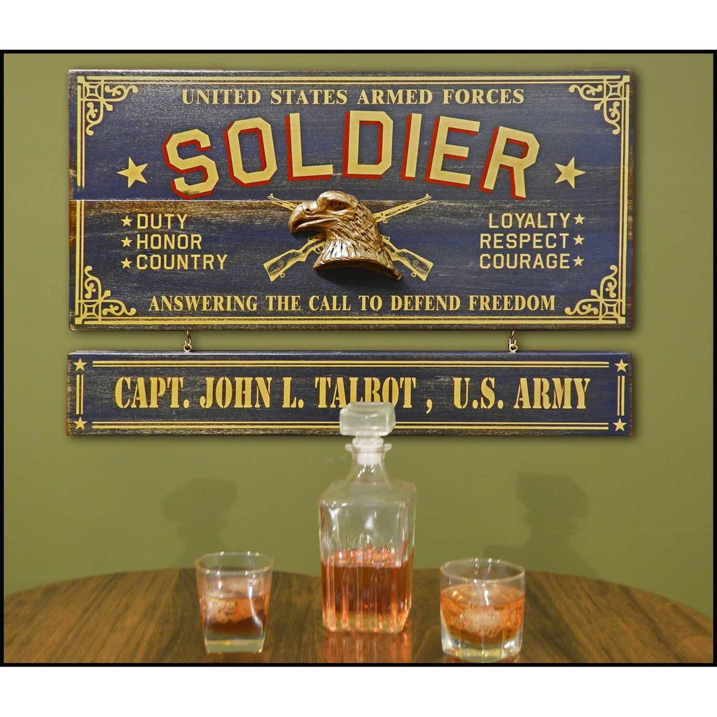 Soldier Wooden Plank Sign - Item #H0054