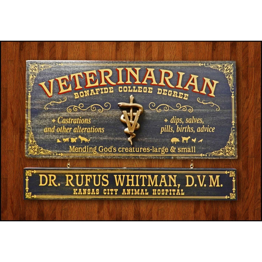 Veterinarian Wooden Plank Sign - Item #H0057