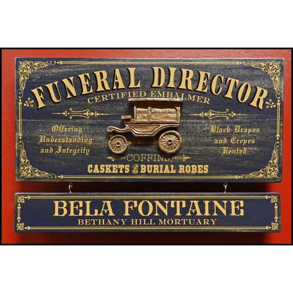 Funeral Director Wooden Plank Sign - Item #H0059