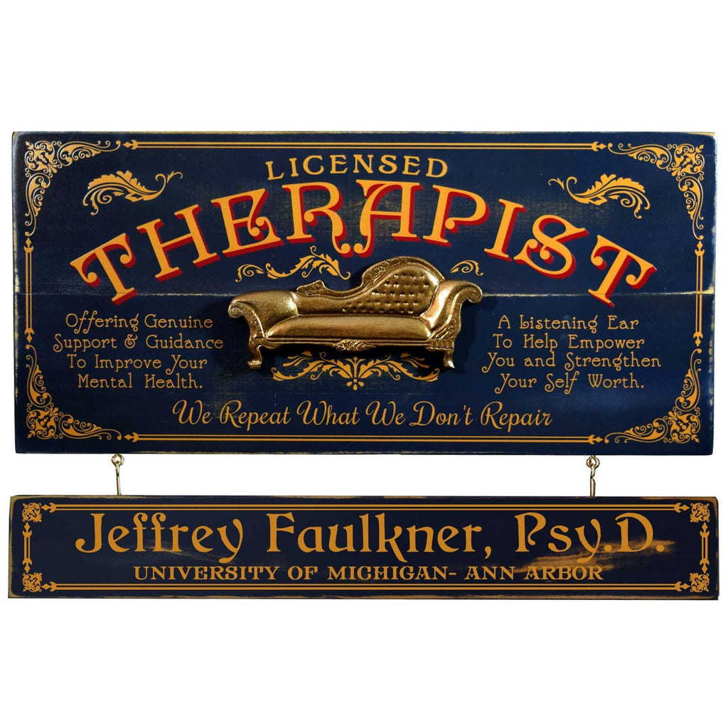 Therapist Wooden Plank Sign - Item #H0060