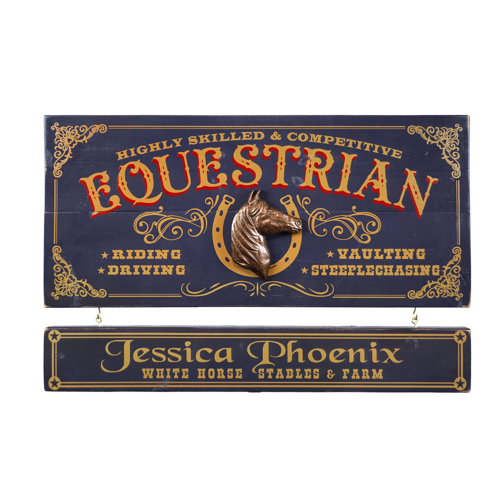 Equestrian-  Wooden Plank Sign - Item #H0063