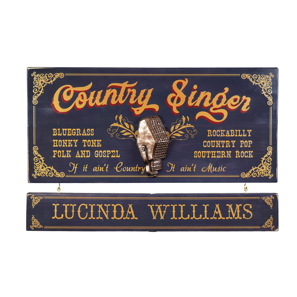 Country Singer-  Wooden Plank Sign - Item #H0064