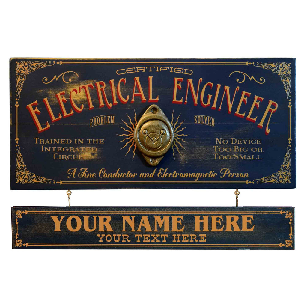Eletrical Engineer-  Wooden Plank Sign - Item #H0065