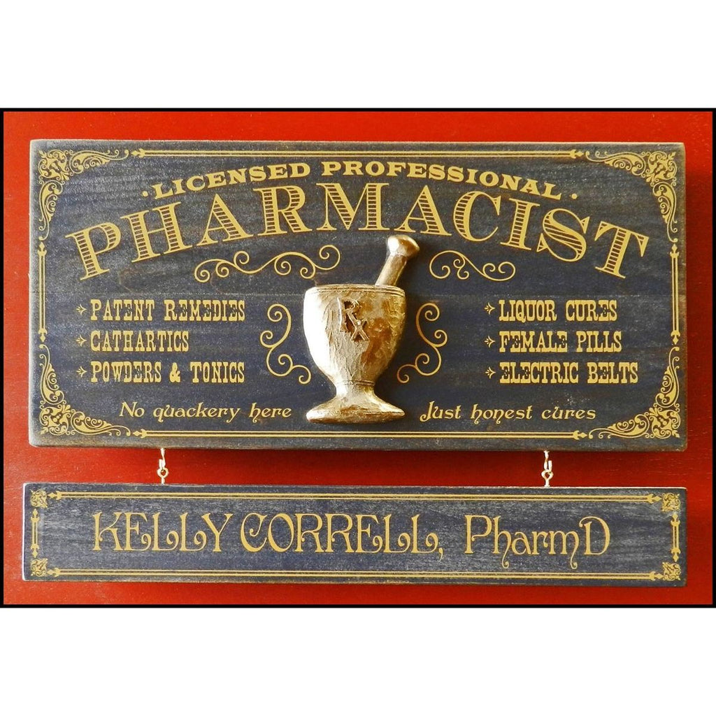 Pharmacist Wooden Plank Sign - Item #H0066