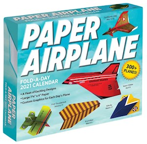 Paper Airplane Desk Calendar- Item #H0135
