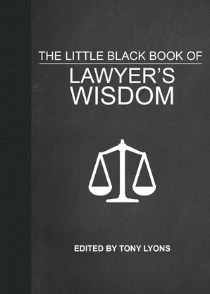 Book- The Little Black Book of Lawyer's Wisdom- Item#H0138