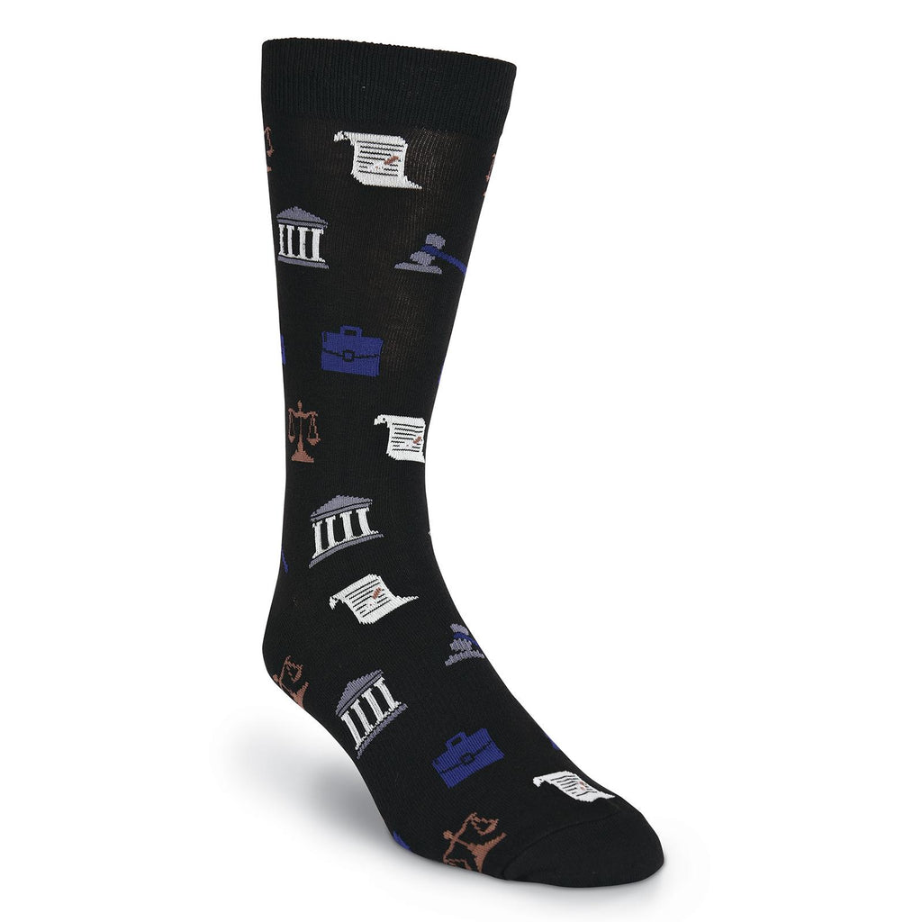 Men's Lawyer Crew Socks - Item #S1002
