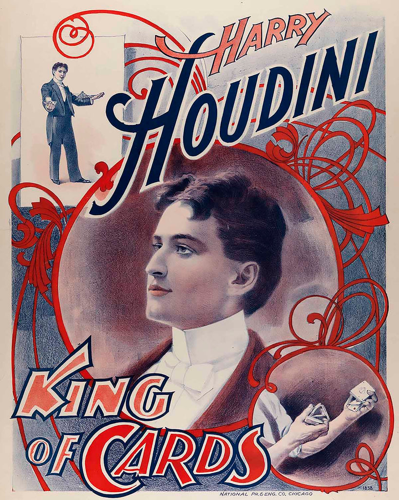 Houdini King of Cards  Wooden Sign - Item #M1001