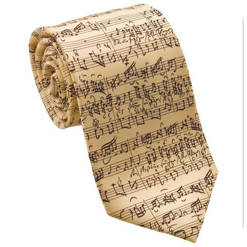 Musical Score Silk Tie - Item #H0002