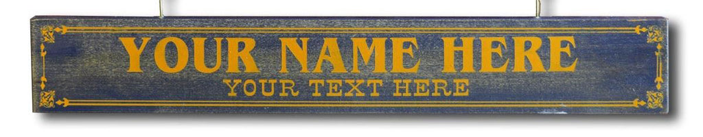 Additional NAMEPLATE  for the Wooden Plank Signs - Item #H0053