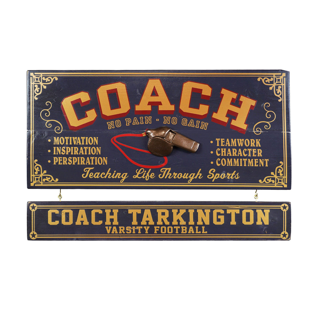 Coach Wooden Plank Sign - Item #H0061