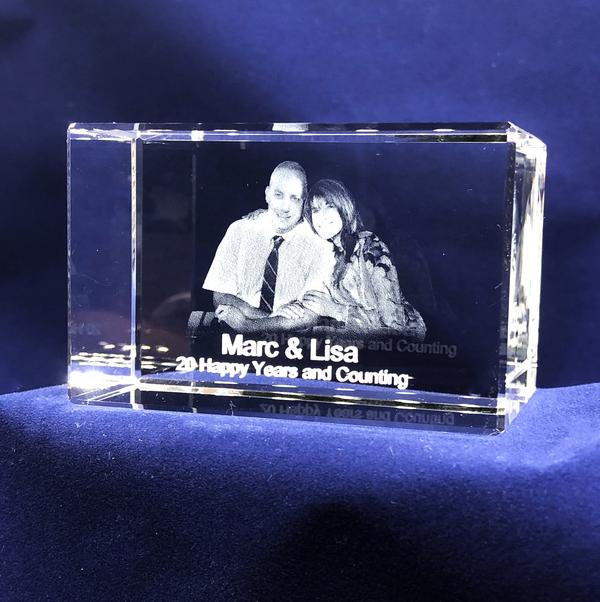 3D Crystals of your Loved Ones - Couple - Item #3716