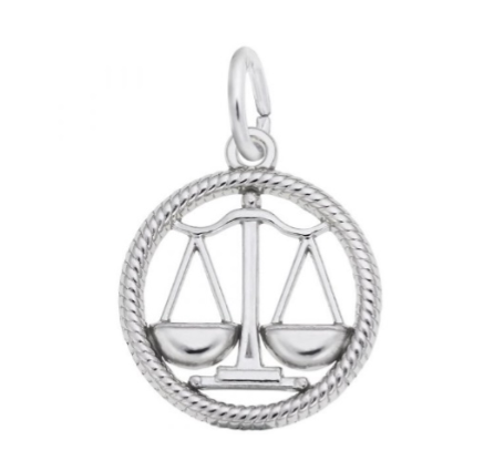 Sterling Silver Libra Scales Charm Item #4779