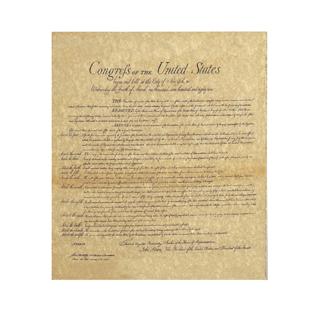 Historical Documents - Bill of Rights Item #1471U