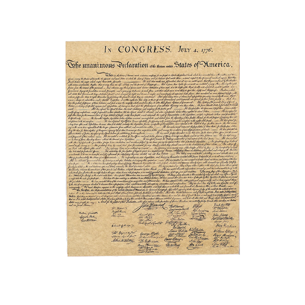 Historical Documents - The Declaration of Independence Item #1476U