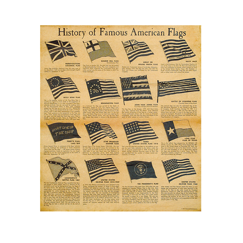 Historical Documents - History of Famous American Flags Item #1627U