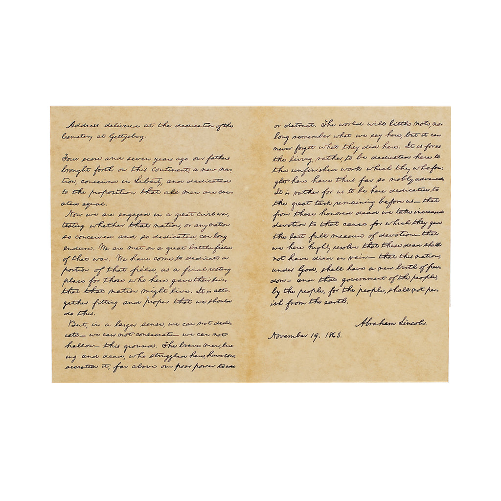 Historical Documents - Lincoln's Gettysburg Address Item #1478U