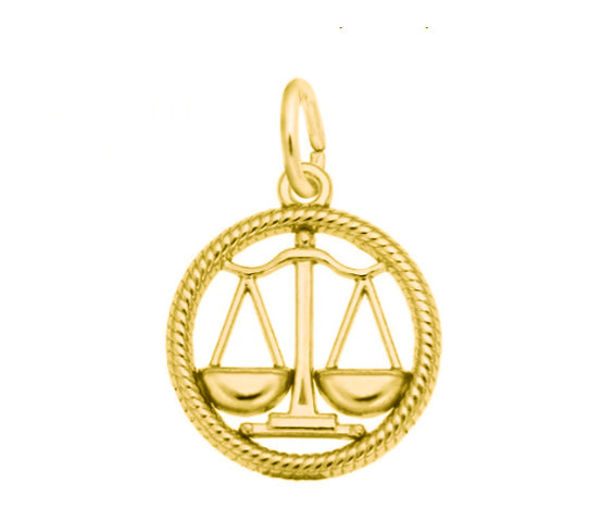 10k Gold Libra Scales Charm Item #4779