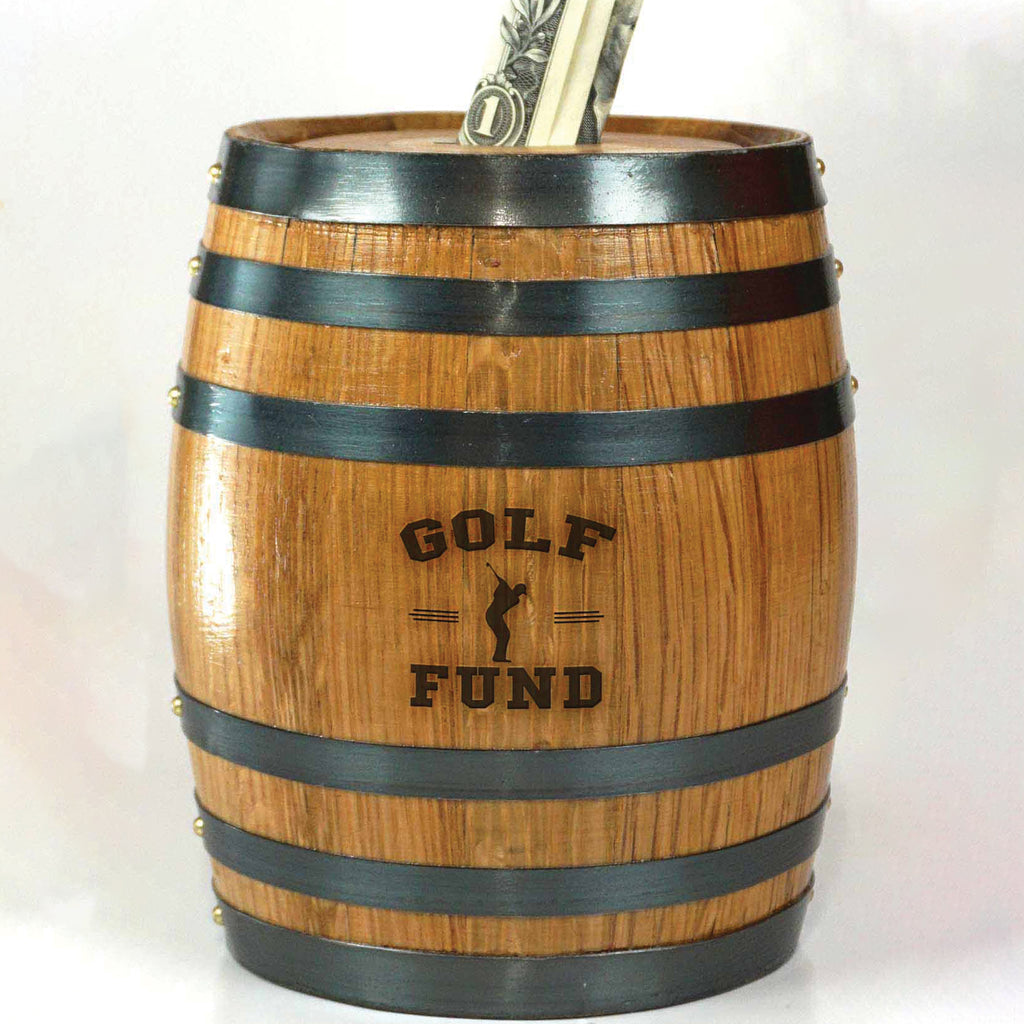 Barrel Piggy Banks - Golf Fund - Item #6707