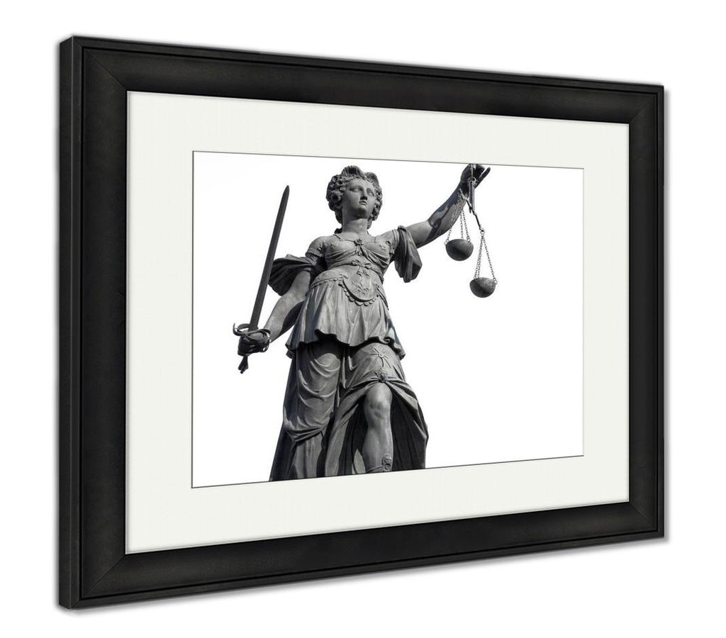 Framed Print, Rome Lady Justice